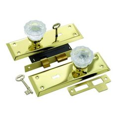 First Watch Security Polished Brass Keyed Glass Mortise Lockset-1139 - The Home Depot