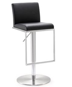 Tov Mod Contemporary Stainless Adjustable Barstools