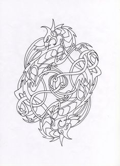 Celtic dragon drawings | Celtic Dragons by Schawahr