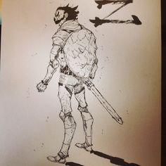 #cleric #dnd old drawing of zeron the cleric