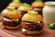 Black Bean Quinoa Sliders   KneadForFood - Food Blog Recipes