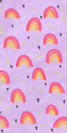 Iphone Background Wallpaper, Pastel Wallpaper, Cellphone Wallpaper, Aesthetic Iphone Wallpaper, Aesthetic Wallpapers, Rainbow Garden, Rainbow Art, Cute Backgrounds, Cute Wallpapers
