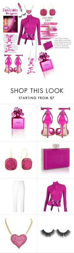 """""""glossy lips"""" by divine40divas ❤ liked on Polyvore featuring beauty, Yves Saint Laurent, Marc Jacobs, Dolce&Gabbana, Liz Claiborne, Marni, Karl Lagerfeld and Urban Decay"""