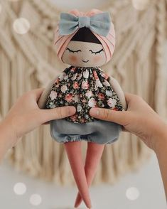 'm going to add this baby to my store today at 7 PM UTC ❤️ Hope I will have finished one more doll by that time 🙏🏻.You May Enjoy fabric craft tips Using These Helpful SuggestionsAmazing trio of handmade dolls by SpunCandy Doll Crafts, Diy Doll, Sewing Crafts, Fabric Toys, Fabric Crafts, Paper Toys, Doll Toys, Baby Dolls, Sewing Dolls