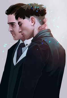 Credence Barebone and Percival Graves. Fantastic beats and where to find them — Hardy Candy Saga Harry Potter, Harry Potter Universal, Harry Potter World, Creedence Barebone, Credence Fantastic Beasts, Gellert Grindelwald, Fanart, Colin Farrell, Fantastic Beasts And Where
