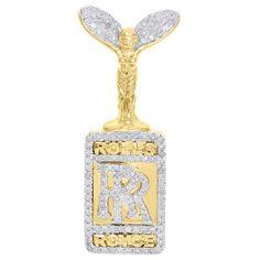 Jewelry For Less Yellow Gold Diamond Rolls Royce Logo Pendant Pave Ct. Koenigsegg, Rolls Royce Logo, Real Gold Jewelry, Gold Jewellery, Luxury Jewelry, Diamond Ice, Jewelry Stand, Diamond Pendant, Round Diamonds