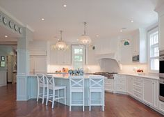bright white kitchen -- House of Turquoise: Fisher Hart Photography