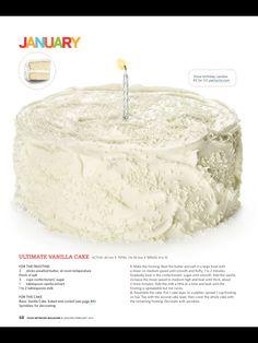 January bday cake.  Ultimate Vanilla Cake.