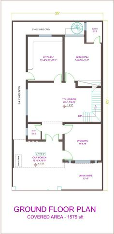10 marla house plan layout , 10 marla house maps in pakistan Home Map Design, Home Building Design, Home Design Plans, Plan Design, 5 Marla House Plan, 2bhk House Plan, Duplex Floor Plans, House Floor Plans, House Front Design