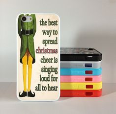 Funny Christmas Elf Quote iphone 5c case,  iphone 5s case,iphone 5 case Silicon Rubber cover skin case for iphone 5/5c/5s case, phone case on Etsy, $6.99