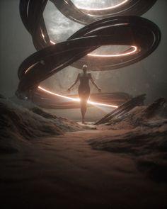 "rhubarbes: "" March Everyday Project on Behance by Stuart Lippincott "" Dark Fantasy Art, Fantasy Concept Art, Fantasy Kunst, Fantasy Artwork, Fantasy World, Dark Art, Motif Art Deco, Arte Sketchbook, Futuristic Art"