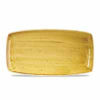 Stonecast Mustard Seed Yellow Oblong Plate 35cm