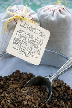 coffee alternative, made in philly <3.   seven spirits tea blend: Dandelion Root (roasted), Chicory Root (roasted), Coconut, Carob powder (raw), Maca powder, Cinnamon, and Cacao (roasted).