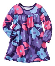 2be45a460d148 Hanna Andersson is having a sale ~ Chateau Purple Floral Play Dress -  Infant, Toddler & Girls