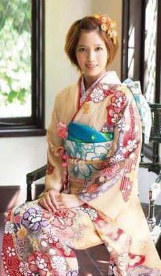 kawaii kimono : furisode : tsubasa honda
