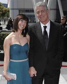 Anthony Bourdain & His Beautiful Wife.