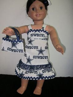 Dallas Cowboys American Girl Doll Dress By by SweetpeasBowsNmore, $15.00