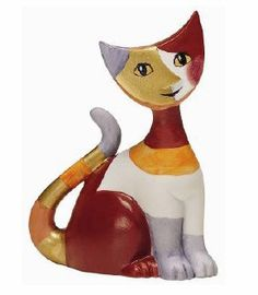 "Rosina Wachtmeister Porcelain Cat Figurine ""Carola"""
