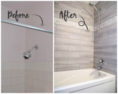 DIY Bathroom Remodel on a Budget (and Thoughts on Renovating in Phases) - Bathroom Renovation - Bathroom Decor Budget Bathroom Remodel, Bath Remodel, Bathroom Makeovers On A Budget, Inexpensive Bathroom Remodel, Cheap Bathroom Makeover, Bathtub Makeover, Inexpensive Flooring, Condo Remodel, Bathtub Redo