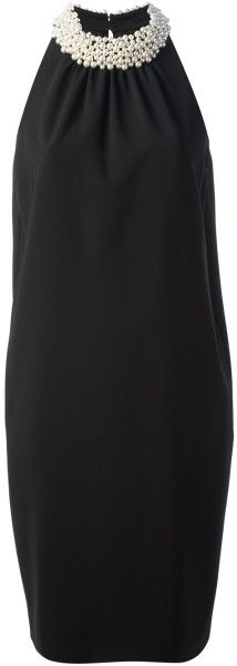 Moschino Embellished Neck Dress | The House of Beccaria#