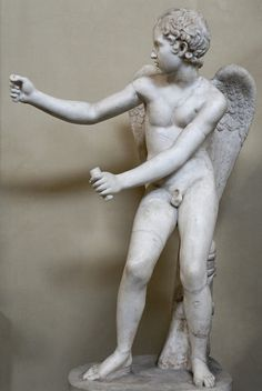 Eros (Cupid).  Roman copy after a Greek original by Lysippos (4th cent. BCE).  Now in the Museo Chiaramonti, Vatican City.
