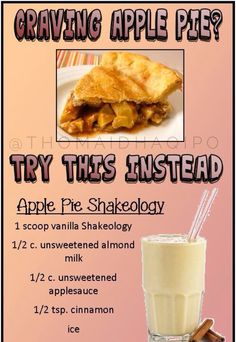 Apple pie shakeology, clean recipes, healthy eats, fitspo