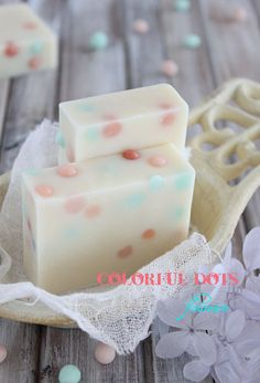 colorful dot soap