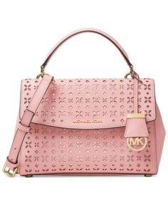 MICHAEL Michael Kors Ava Small Top Handle Satchel - beautiful details with the metallic showing through