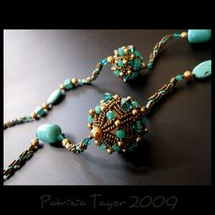 Turquoise Galaxy - OOAK Necklace. $195.00, via Etsy.