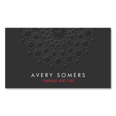 Makeup Artist Cool Faux Embossed Black Double-Sided Standard Business Cards (Pack Of 100). I love this design! It is available for customization or ready to buy as is. All you need is to add your business info to this template then place the order. It will ship within 24 hours. Just click the image to make your own!