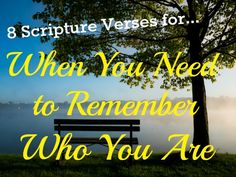 Laura Rath ~ Journey in Faith: 8 Verses for When You Need to Remember Who You Are. Faith Walk, Give Me Jesus, Bible Promises, Remember Who You Are, Scripture Verses, Christian Women, Faith Quotes, Patience, Encouragement