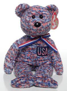 USA- Bear - Ty Beanie Babies