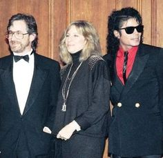 Michael Jackson, Steven Spielberg, and Barbra Streisand