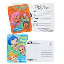 Bubble Guppies Inviations & Thank-You Postcards (8 each)