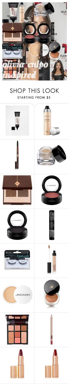 """""""Olivia Culpo Inspired"""" by oroartye-1 on Polyvore featuring beauty, L'Oréal Paris, Christian Dior, Charlotte Tilbury, Bobbi Brown Cosmetics, MAC Cosmetics, Max Factor, NARS Cosmetics, Antipodes and Chanel"""