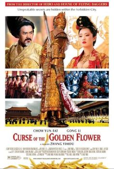 American Movie poster for Curse of the Golden Flower, a historical period drama.