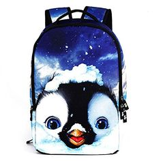 VINICIO Womens / Mens New Style Fashionable Personality Cute Animals Design Students Backpack Teenagers Outdoor Travel Bag(QQ) * Check out the image by visiting the link.