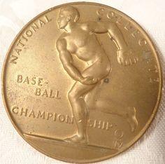 1951 National Collegiate Baseball Championship Bronze Medal Nice