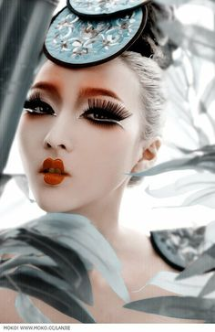 This dramatic look is beautiful and the styling is flawless.