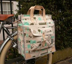 Useful and beautiful bags for bicycles.