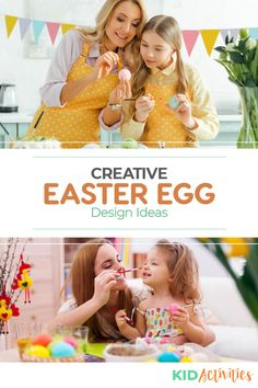 A collection of creative Easter egg design ideas. Holiday Activities For Kids, Games For Toddlers, Kid Activities, Summer Activities, Easter Bunny Eggs, Easter Egg Designs, Preschool Age, Egg Decorating, Valentine Day Cards