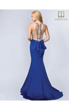 LUCCI LU 8166 Lucci, Formal Gowns, Backless, Fashion, Moda, Formal Dresses, Fashion Styles, Fasion, Fashion Illustrations