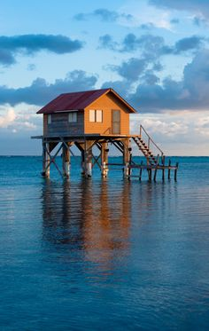 House in the sea - Ambergris Caye Belize