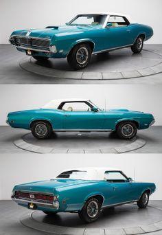 1969 Mercury Cougar XR7 Convertible / Rare Aqua Paint