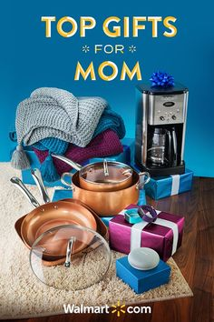 Show your appreciation for the most important woman in your life this season with great holiday gift ideas from Walmart. Featuring everything from kitchen essentials to fun and stylish accessories to spruce up the home-you're guaranteed to find something she'll really love. Shop today.   Top Gifts for Mom Include: Google Home Mini, Cuisinart Coffee Maker, Better Homes & Gardens Blankets, Copper Chef 9 piece Cookware Set and Fitbit Charge 2.