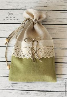 Fabrics and wool for toys, Tild dolls, etc. Potli Bags, Animal Bag, Lavender Bags, Burlap Crafts, Bag Packaging, Diy Purse, Linen Bag, Fabric Bags, Girls Bags