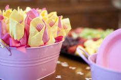 cute idea for forks & napkins in the party