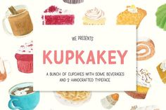 Kupkakey Pack (Fonts + Illustration) by akufadhl on @creativemarket