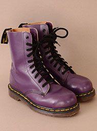 Vintage Grape Purple 90's England Dr. Martens