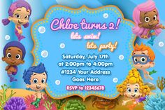 Bubble Guppies Birthday Invitations by WittyParties on Etsy